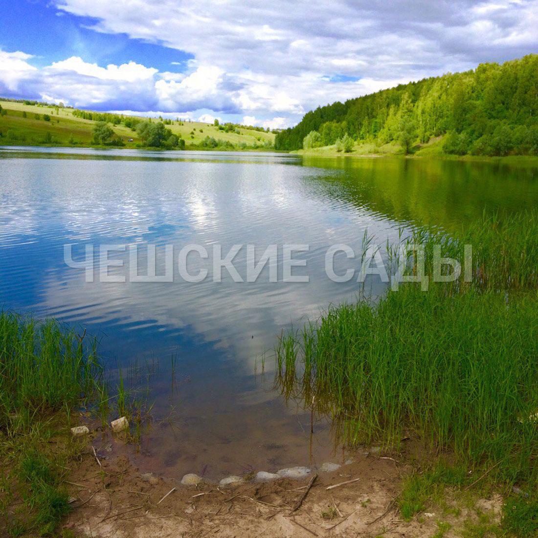 вблизи садов расположено озеро